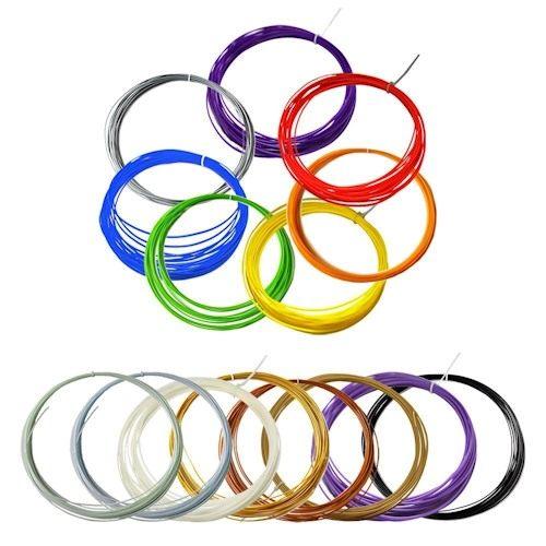 Цветной PLA пластик для 3D-Ручек 15 цветов по 10м.